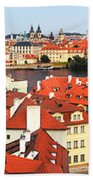 The Red Tile Roofs Of Prague Beach Towel
