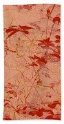 The Red Vine Beach Towel