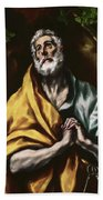 The Repentant Saint Peter Beach Towel