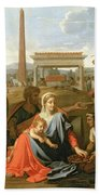 The Rest On The Flight Into Egypt Beach Towel