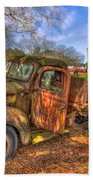 The Resting Place Boswell Farm 1947 Dodge Dump Truck Beach Towel