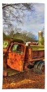 The Resting Place 2 Farm Life 1947 Dodge Dump Truck Art Beach Towel