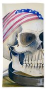 The Rider's Skull Beach Towel