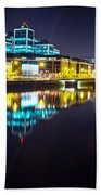 The River Liffey Night Romance 2 Beach Towel