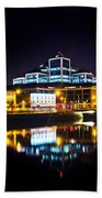 The River Liffey Reflections 2 Beach Towel