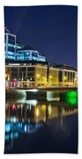The River Liffey Reflections 4 Beach Towel