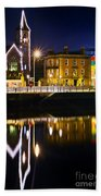 The River Liffey Reflections Beach Towel