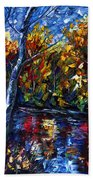The River Song  Beach Towel