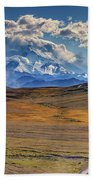The Road To Denali Beach Towel