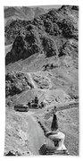 The Road To Ladakh Bw Beach Towel