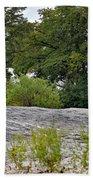 The Rocky Limestone Climb Beach Towel