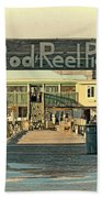 The Rod And Reel Pier Vintage   Beach Towel