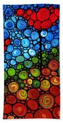 The Roots Of Love Run Deep Beach Towel by Sharon Cummings