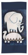 An Elephant On A Turtle Beach Towel