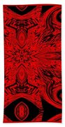 The Royal Red Crest Beach Towel
