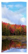 The Scarlet Reds Of Autumn Beach Towel