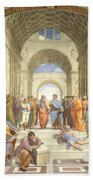 The School Of Athens, Raphael Beach Towel