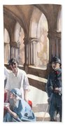 The Scottish Women's Hospital - In The Cloister Of The Abbaye At Royaumont. Beach Towel