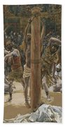 The Scourging On The Back Beach Towel