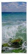 The Sea Breathes Beach Towel