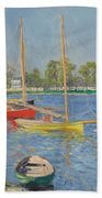 The Seine At Argenteuil Beach Towel
