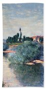 The Seine At Lavacourt Beach Towel by Claude Monet