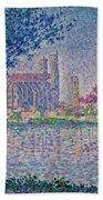 The Seine At Mantes, By Paul Signac, 1899-1900, Kroller-muller M Beach Towel