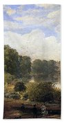 The Serpentine Beach Towel by Jasper Francis Cropsey