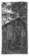 The Shack In Black And White Beach Towel