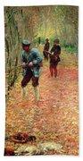 The Shoot Beach Towel by Claude Monet