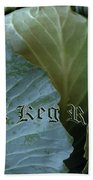 The Shy Cabbage The Keg Room Old English Hunter Green Beach Towel