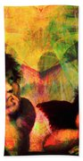 The Sistine Modonna Baby Angels In Abstract Space 20150622 Square Beach Towel