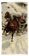 The Sleigh Ride Beach Towel