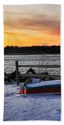 The Snow Boat Beach Towel