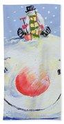 The Snowman's Head Beach Towel