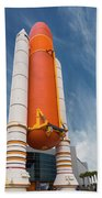 The Space Shuttle Launch System Beach Towel by Jim Thompson
