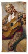 The Spanish Guitarist Beach Towel