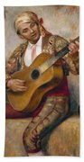 The Spanish Guitarist Beach Towel