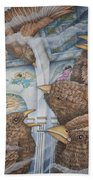 The Sparrows Of San Elizario Beach Towel