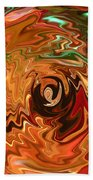 The Spirit Of Christmas - Abstract Art Beach Towel