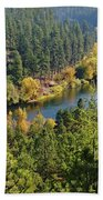 The Spokane River  Beach Towel