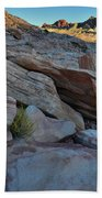 The Spotlight Fades At Valley Of Fire Beach Towel
