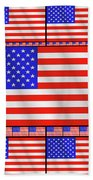 The Stars And Stripes 2 Beach Towel