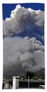 The Station Fire Panoramic Beach Towel
