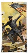 The Storming Of The Fortress At Chapultec Beach Towel by English School