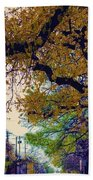 The Street Trees Beach Towel