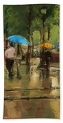 The Streets Of Paris In The Rain Beach Towel