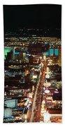 The Strip At Las Vegas,nevada Beach Towel