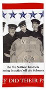 The Sullivan Brothers - They Did Their Part Beach Sheet