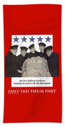 The Sullivan Brothers - They Did Their Part Beach Towel